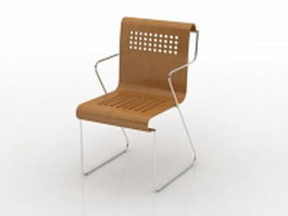 Stackable restaurant chair 3d preview
