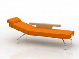 Modern chaise longue day bed 3d preview