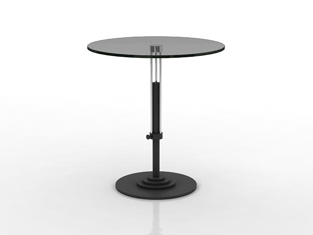 Glass top tea table 3d rendering