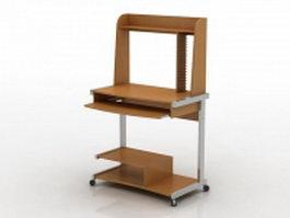 Mini Computer Desk 3d preview