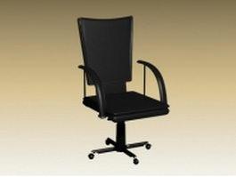 High back office revolving chair 3d model preview