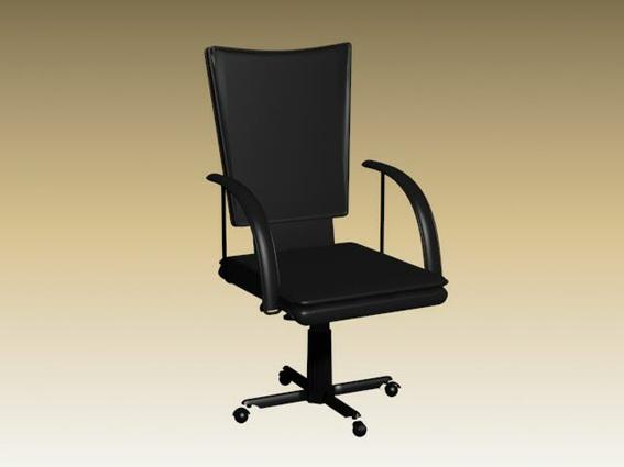 High back office revolving chair 3d rendering