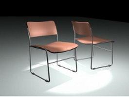 Minimalist restaurant chair 3d preview