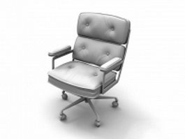 Upholstered executive chair 3d preview