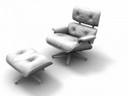 Reclining armchair and ottoman 3d preview