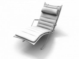 Upholstered lounge chair 3d preview