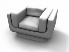 Upholstered backless armchair 3d preview