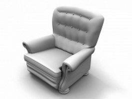 Large upholstered armchair 3d preview