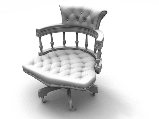 Revolving windsor chair 3d rendering