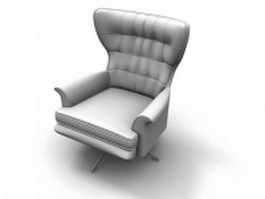 Revolving wing chair 3d preview