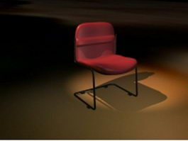 Upholstered cantilever chair 3d preview