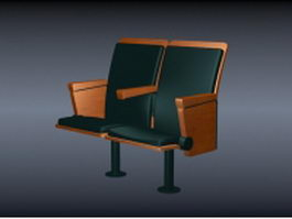 Two seater cinema chair 3d preview