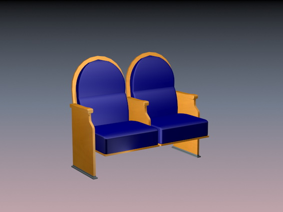 Two seater waiting chair 3d rendering
