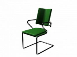 Reclining cantilever chair 3d preview