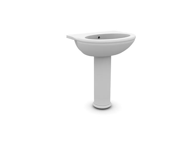 Bathroom sanitary ware washbowl 3d rendering