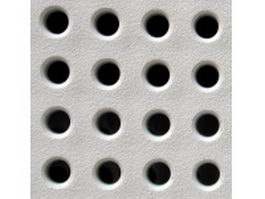 Perforated distribution plate texture