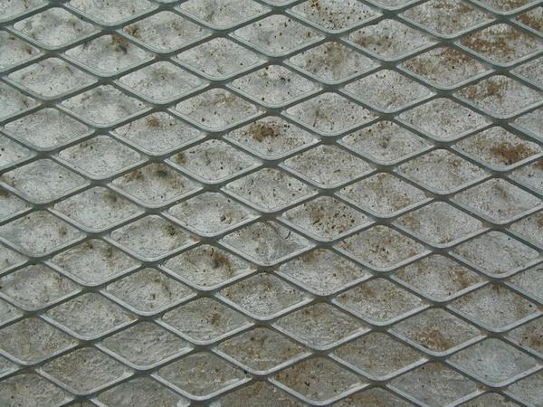 Embossed steel plate texture