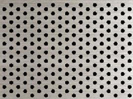 Perforated stainless steel panel texture
