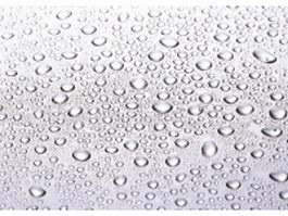 Water drops on stainless steel panel texture