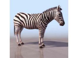 Plains zebra 3d preview