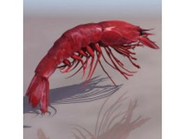 Giant tiger prawn 3d preview