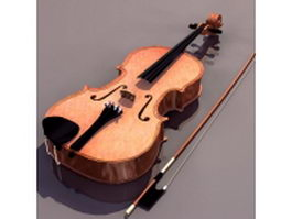 Full-size viola 3d preview