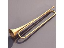 Natural trumpet 3d model preview