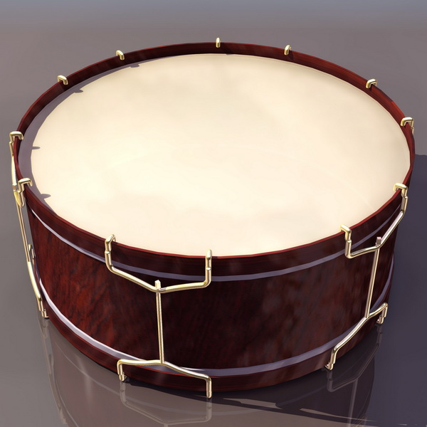 Brazilian frame drum 3d rendering
