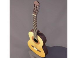 Modern acoustic guitar 3d preview