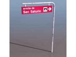 Street traffic sign 3d preview