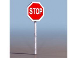 Stop sign 3d preview