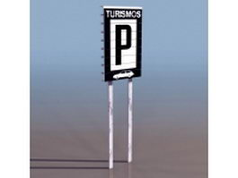 Parking lot sign 3d preview