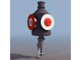 Railway searchlight signal 3d preview