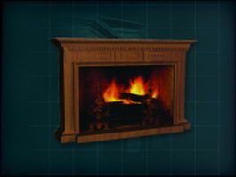 Carving wood mantelpiece fireplace 3d model preview