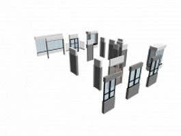 Steel frame window contains 3d model preview