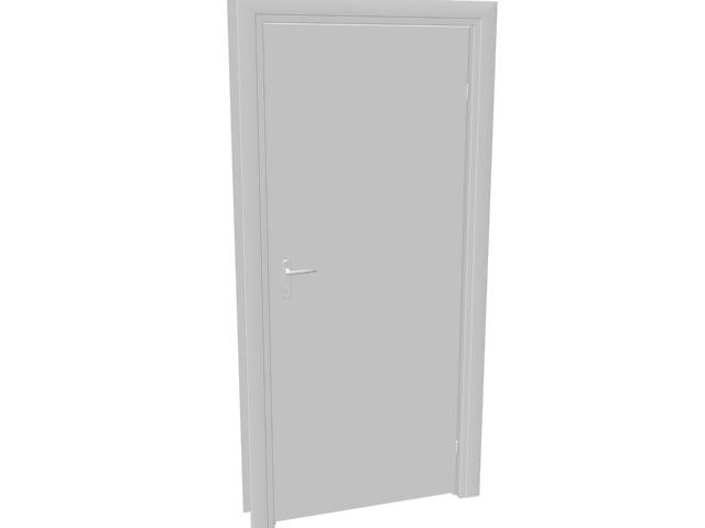 Plywood flush door 3d rendering