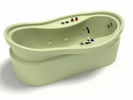 Tap mounted whirlpool tub 3d model preview
