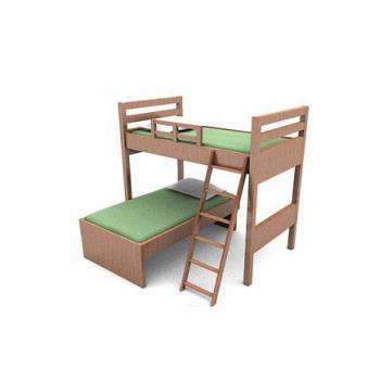 Children room bunk bed 3d rendering