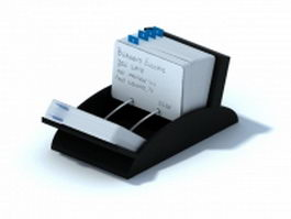 Rolodex business card file 3d preview