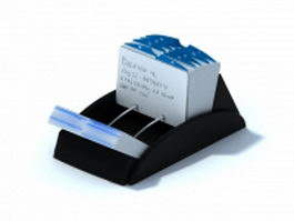 Rolodex name card box 3d preview