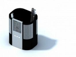 Digital and alarm desk clock 3d model preview