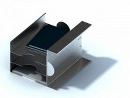 Stainless steel desk folder holder 3d model preview
