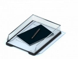 Metal wire file holder 3d preview