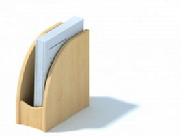 Wooden magazine holder 3d preview