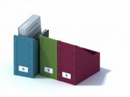 Plastic file magzine holder 3d preview