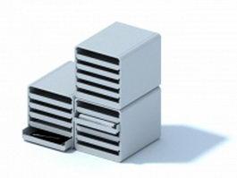 Desktop letter and bill holder 3d model preview
