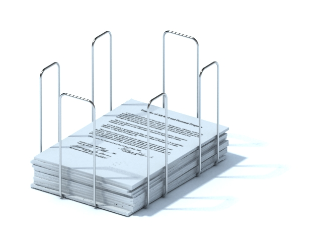 Mesh wire file holder magazine holder 3d rendering