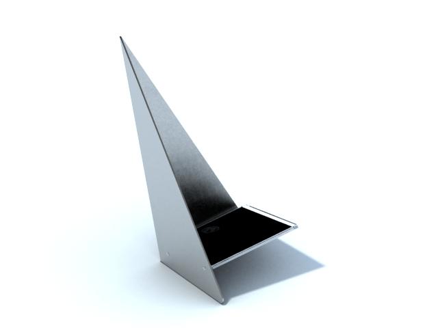 Aluminium alloy cd holder 3d rendering