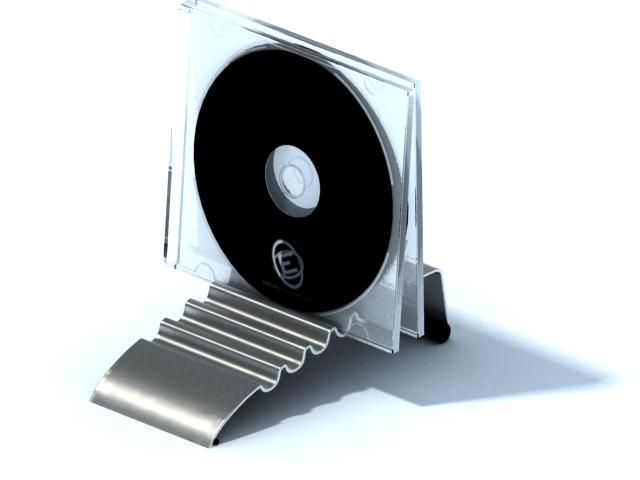 Desk cd holder rack 3d rendering