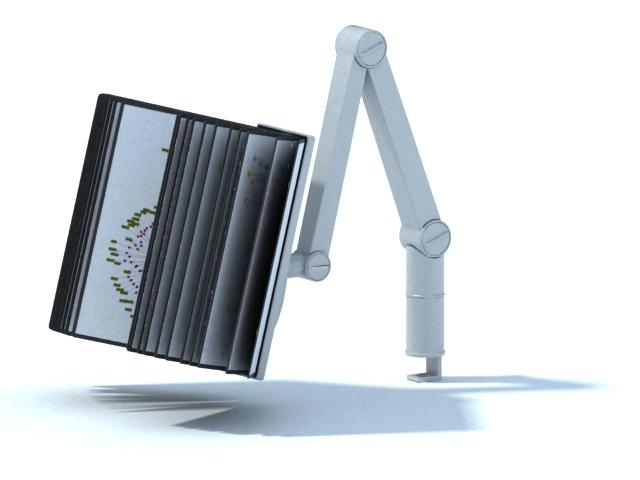 Adjustable book holder 3d rendering